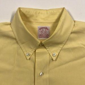 BROOKS BROTHERS Mens Yellow Oxford Dress Shirt 16
